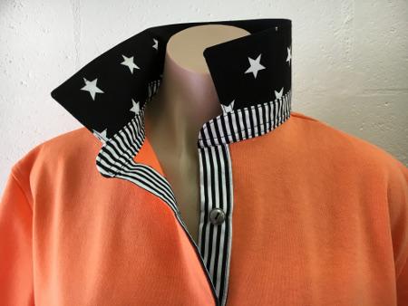 Orange Rugby - Black stars & stripe