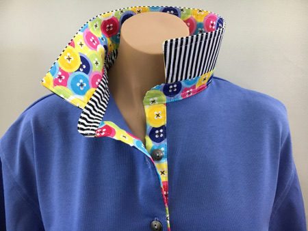 Periwinkle Rugby - Button trim