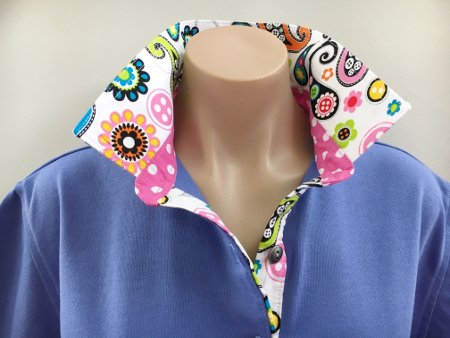 Periwinkle Rugby - Modern paisley & candy pink