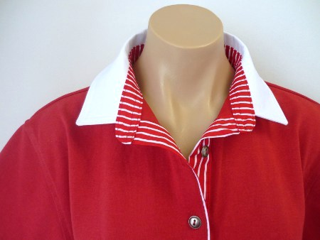 Red rugby - White & classic red stripe