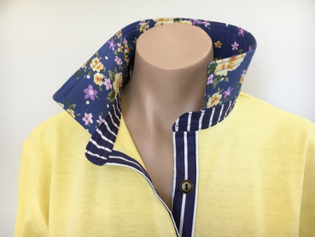 Sorbet Rugby - Yellow rose & navy stripe
