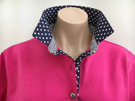 Hot pink Rugby - Classic navy combo trim