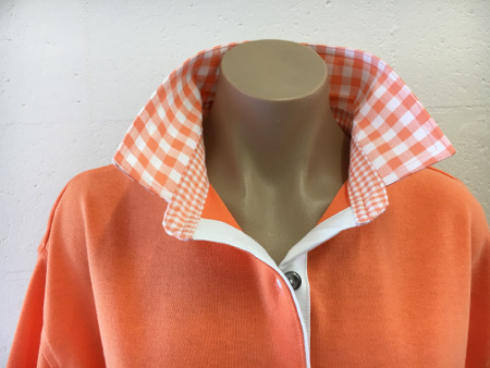 Orange Rugby - Orange check trim