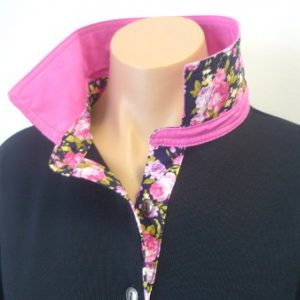 Navy rugby - Candy pink & navy floral
