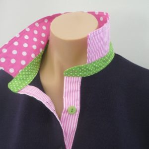 Navy Rugby - Candy pink spot, Lime spot and candy stripe