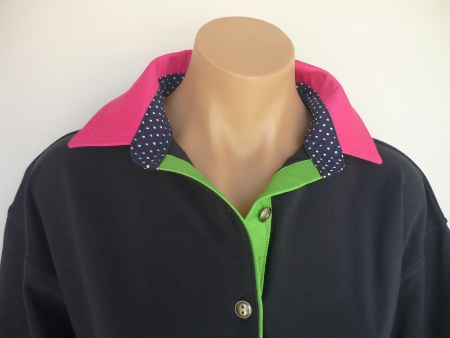 Navy rugby - Hot pink, small navy spot stand and lime tab