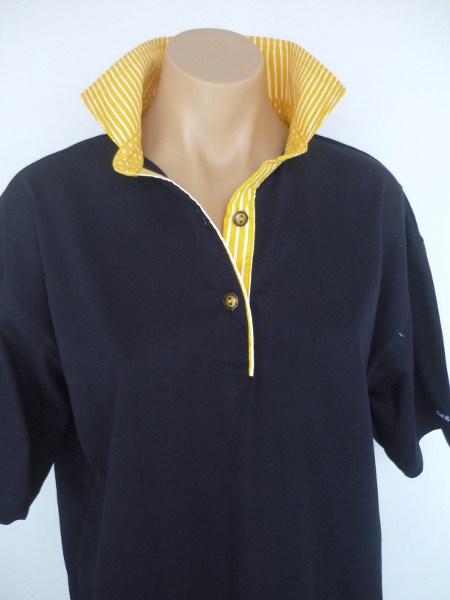 Navy rugby - Yellow stripe & spot
