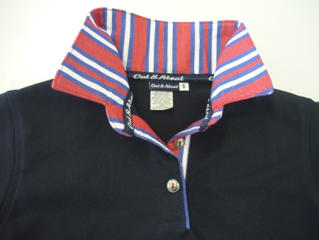 Boys Rugby - Red and Blue stripe trim