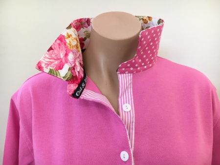 Candy pink Rugby - Floral trim