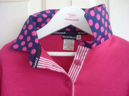 Kids Hot pink Rugby – Royal & Hot pink spot