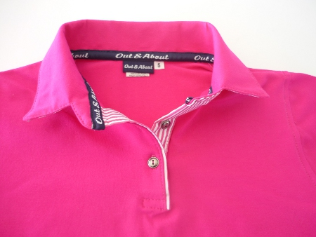Kids fuschia stretch rugby - Pink stripe and tape