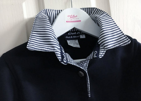 Kids navy rugby with stripe and check