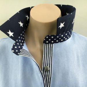 Light blue rugby - Big navy star, spot & stripe combo