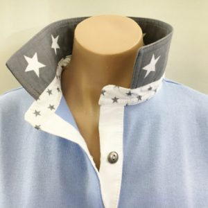 Light blue rugby - Grey star trim