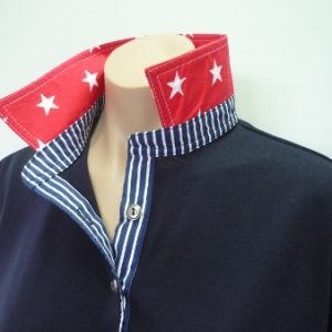 Navy - Red star and classic navy stripe